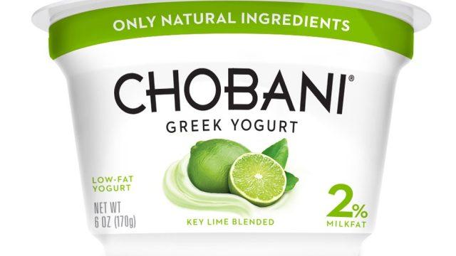 Chobani lime greek yogurt 2%