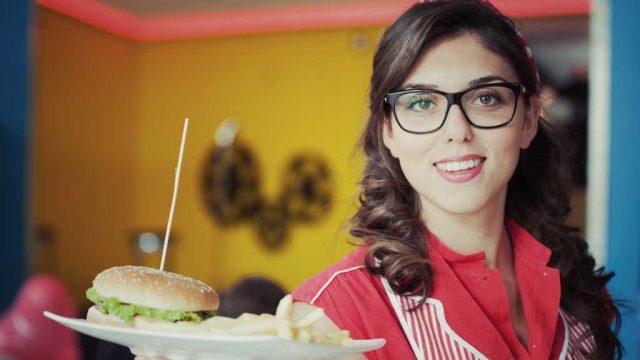 Waitress with retro burger.jpg