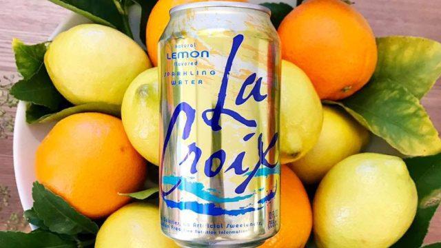 La Croix lemon seltzer