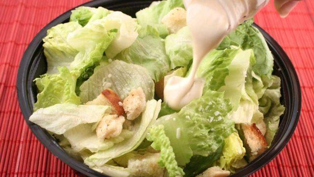 salad dressing pour