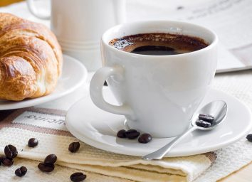 black coffee in cup