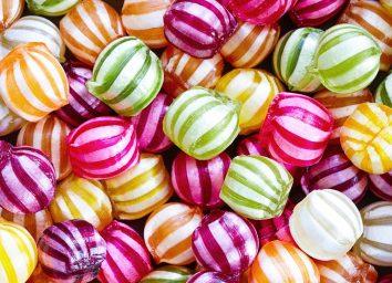 striped hard candy
