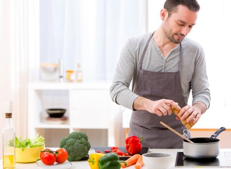 Man cooking