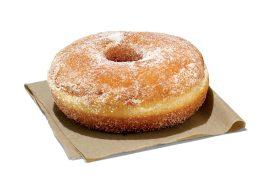 dunk donut sugar donut on napkin