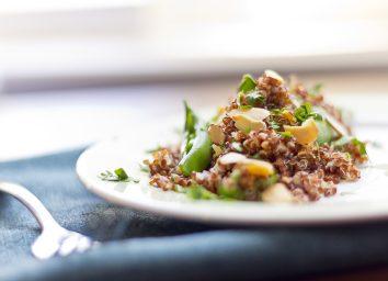 Quinoa salad on plate