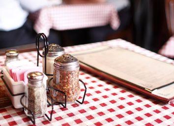 menu restaurant table cloth