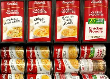 Canned Campbell's chicken soups