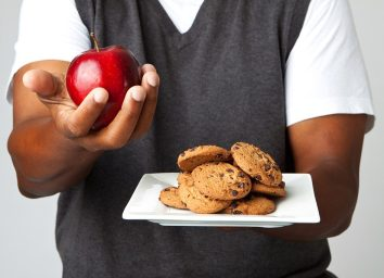 Apple and chocolate chip cookies