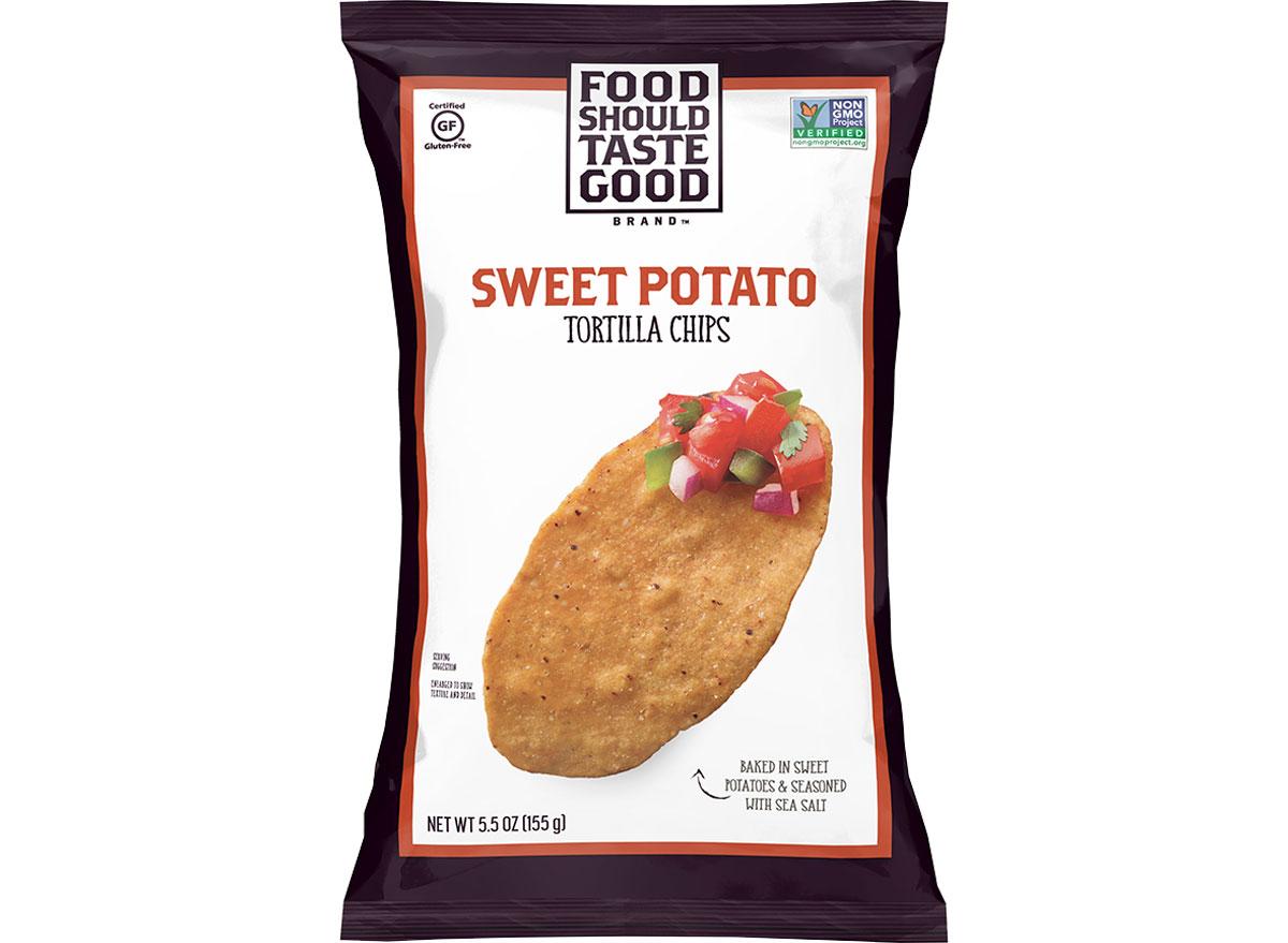 Food should taste good sweet potato chips - best healthy low calorie chips