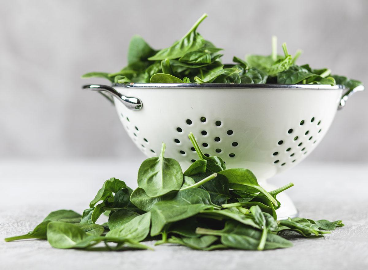 Baby spinach colander