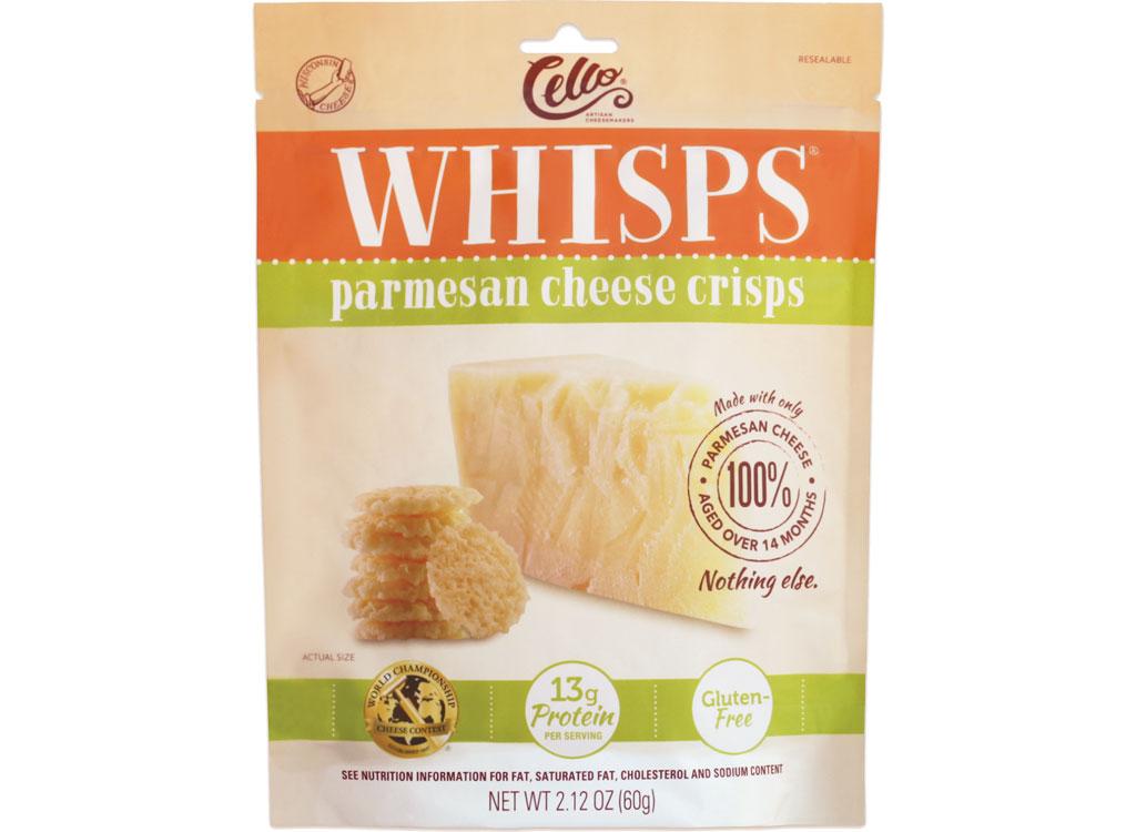 Cello whisps parmesan - low carb snacks