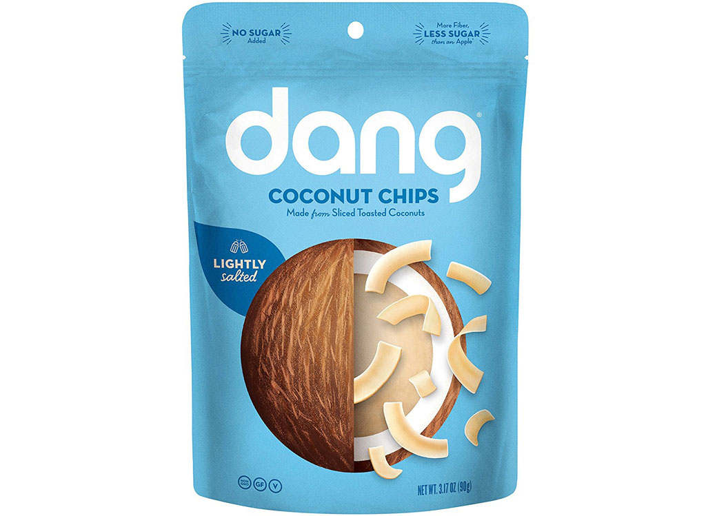 Dang coconut chips lightly salted - low carb snacks