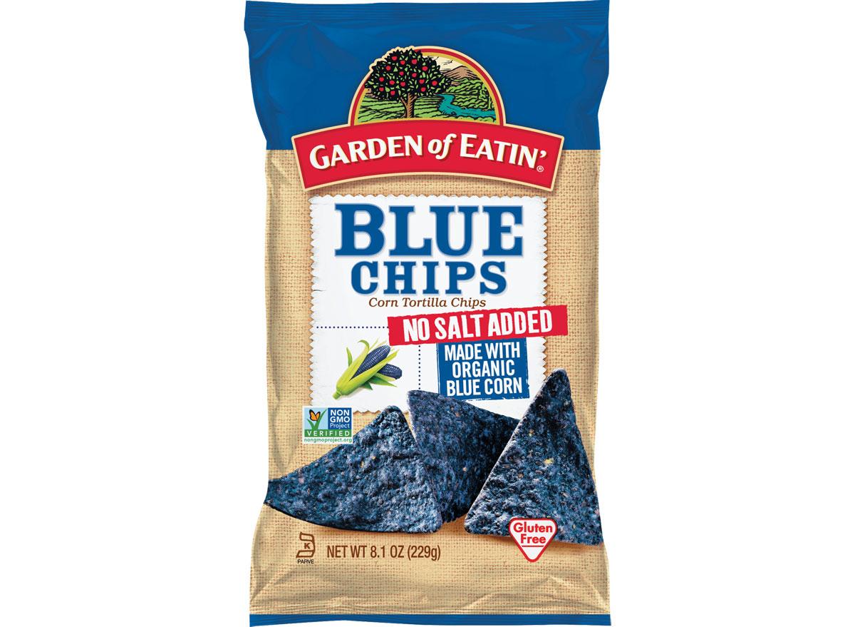 Garden of eatin blue chips no salt added - best healthy low calorie chips