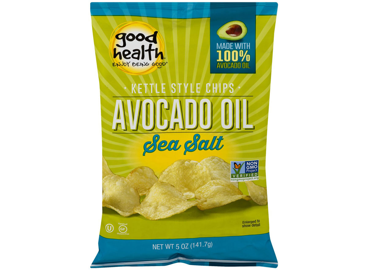 Good health kettle style chips avocado oil sea salt - best healthy low calorie chips
