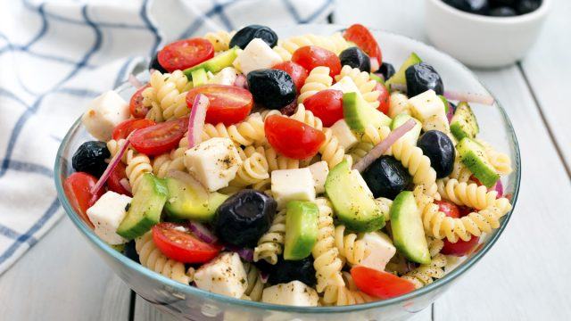cold italian or greek pasta salad