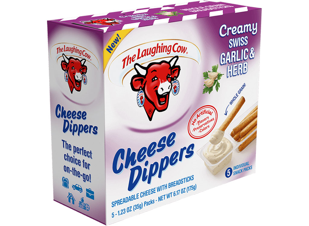 The laughing cow garlic herb cheese dipper - low carb snacks