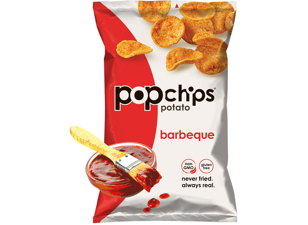 popchips bbq potato chips - best healthy low calorie chips
