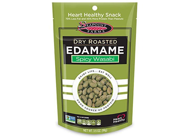Seapoint farms wasabi edamame - low carb snacks