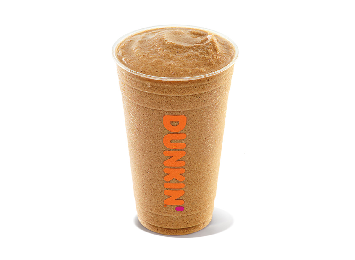 Dunkin frozen blended iced coffee