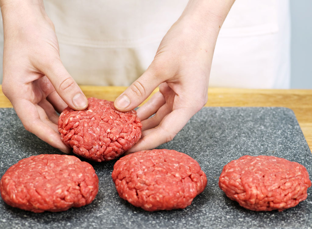 Form burger patties