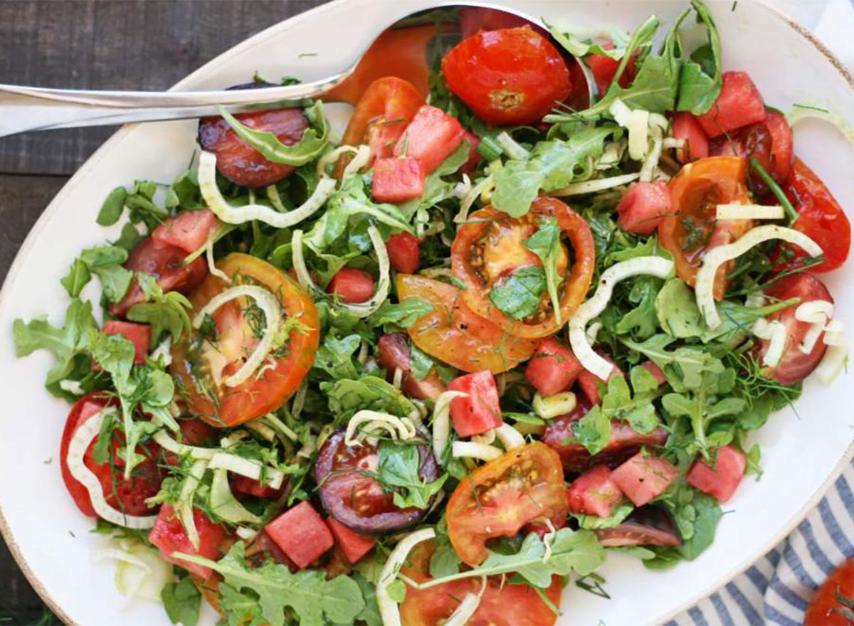 tomato watermelon fennel salad