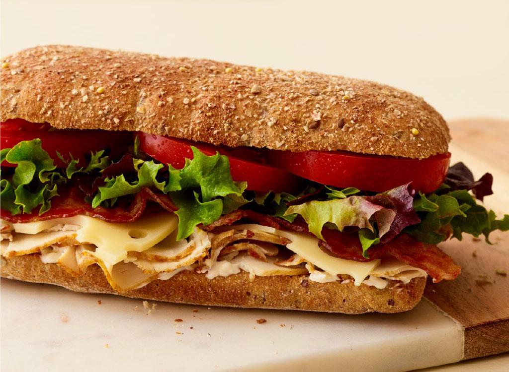 Au bon pain turkey swiss sandwich