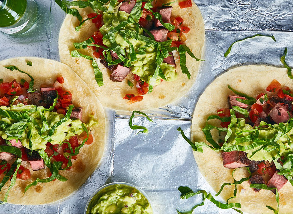 Chipotle steak tacos corn tortillas