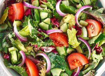 Panera seasonal greens salad