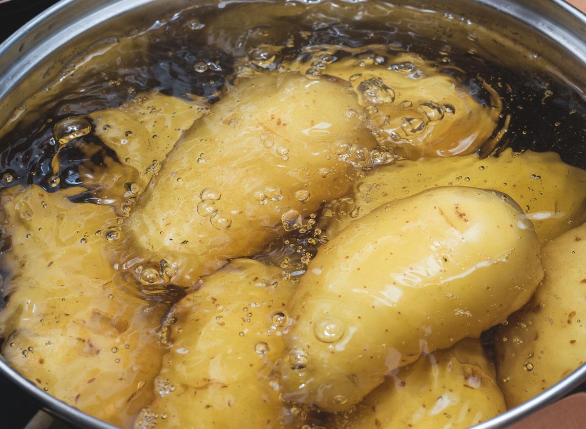 Boiled potatoes