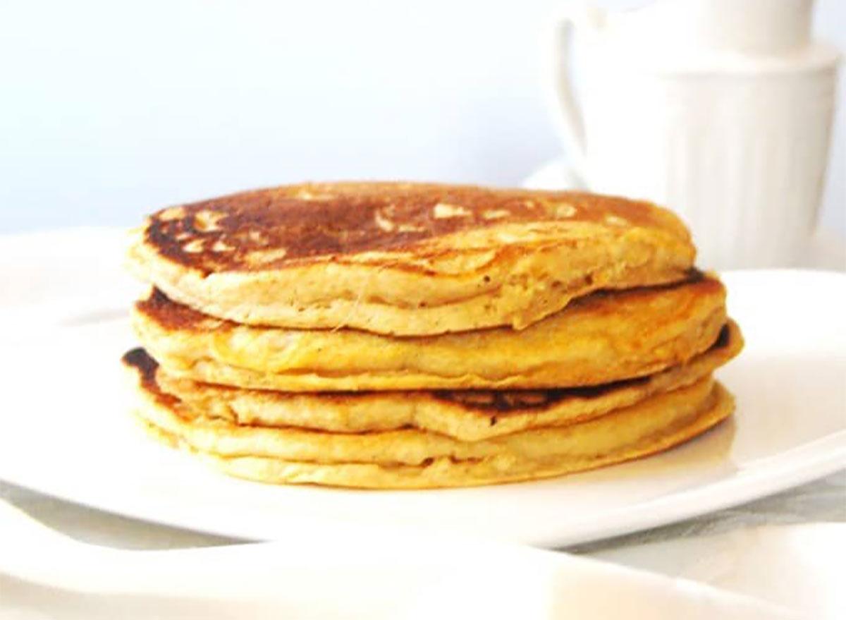vegan orange sweet potato pancakes