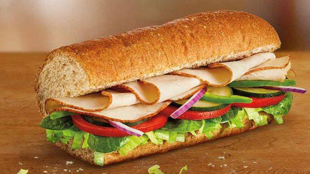 Subway turkey sub