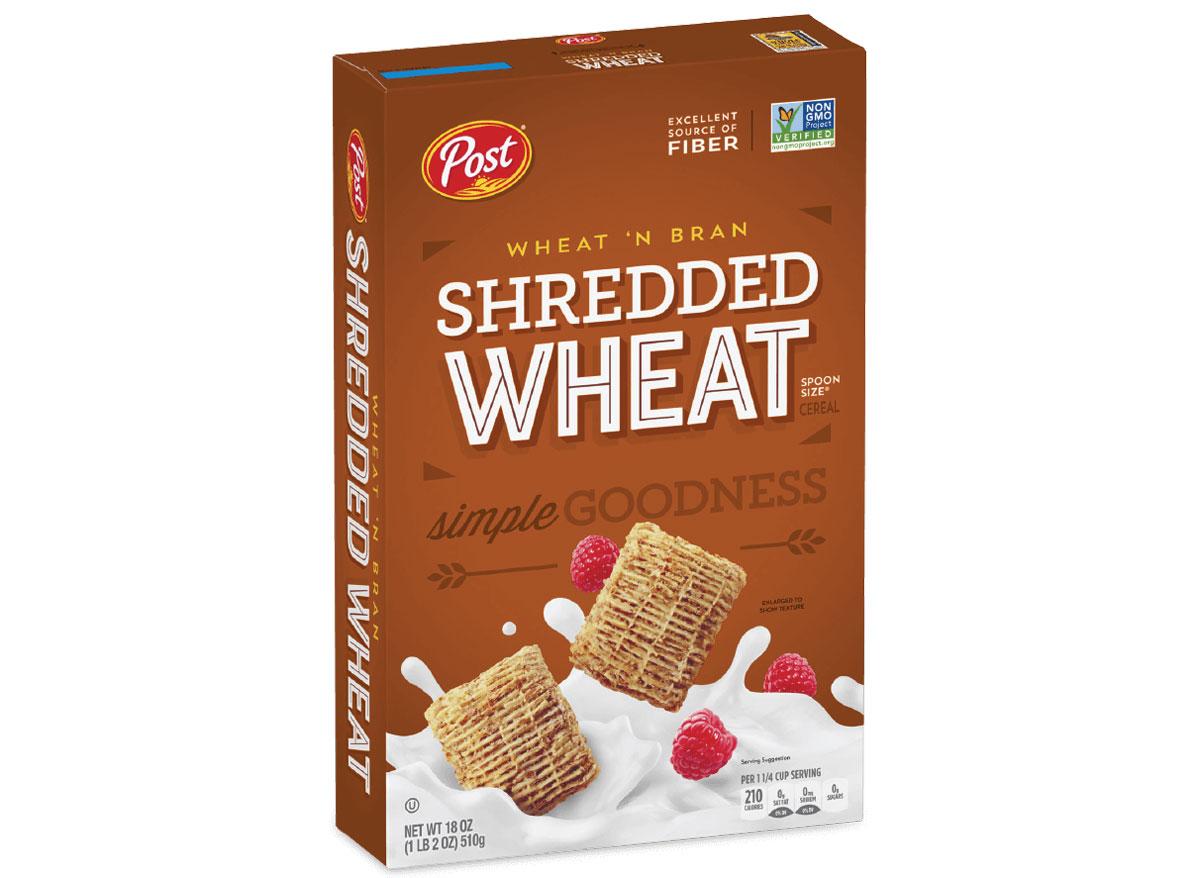 Post shredded wheat bran cereal