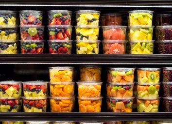 Fruit salad plastic container