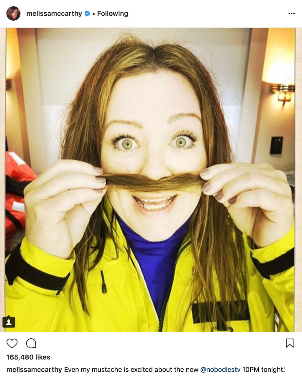 Melissa mccarthy chill relax instagram
