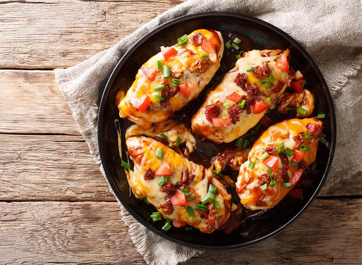 monterey chicken in pan