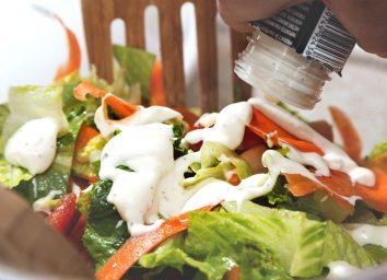 Bottled salad dressing