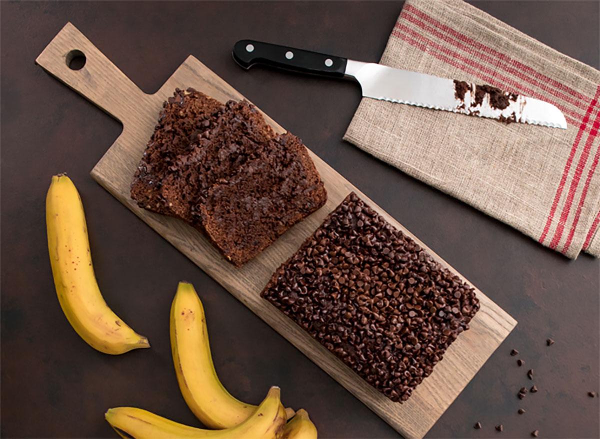 loaf of chocolate banana bread