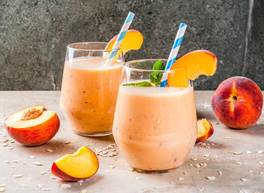 Peach banana oat smoothie
