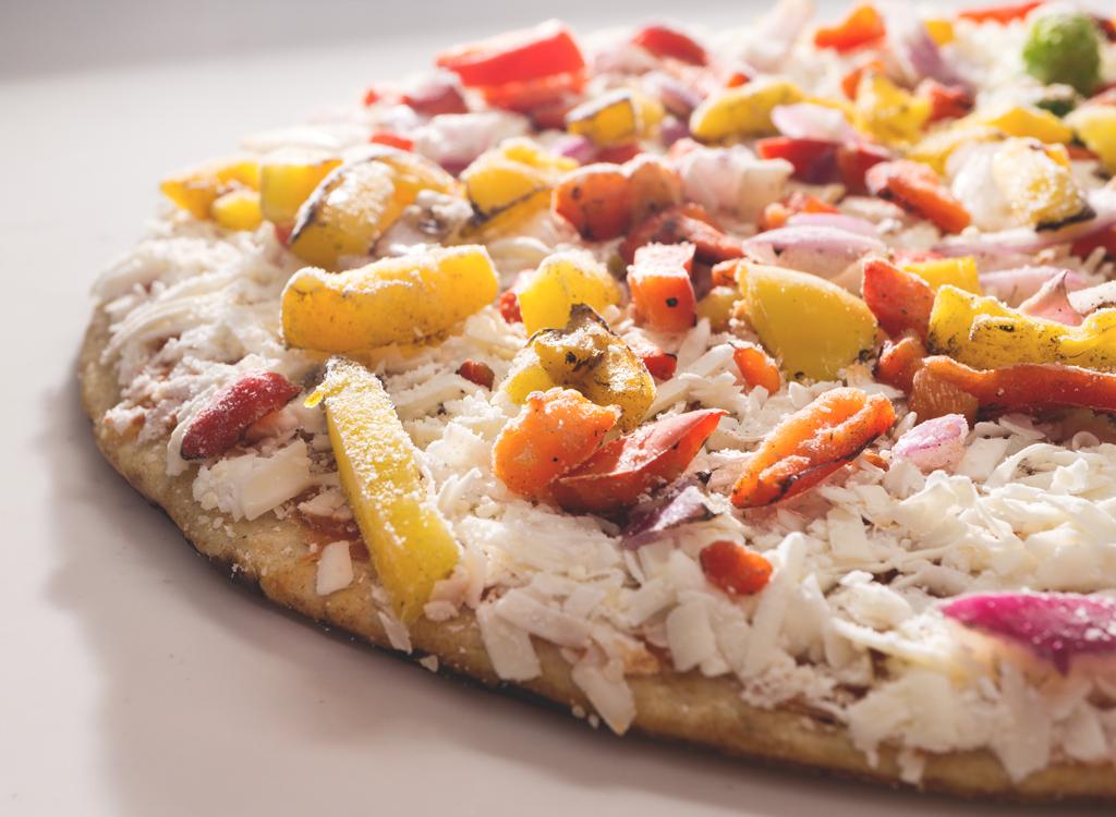 Frozen veggie pizza