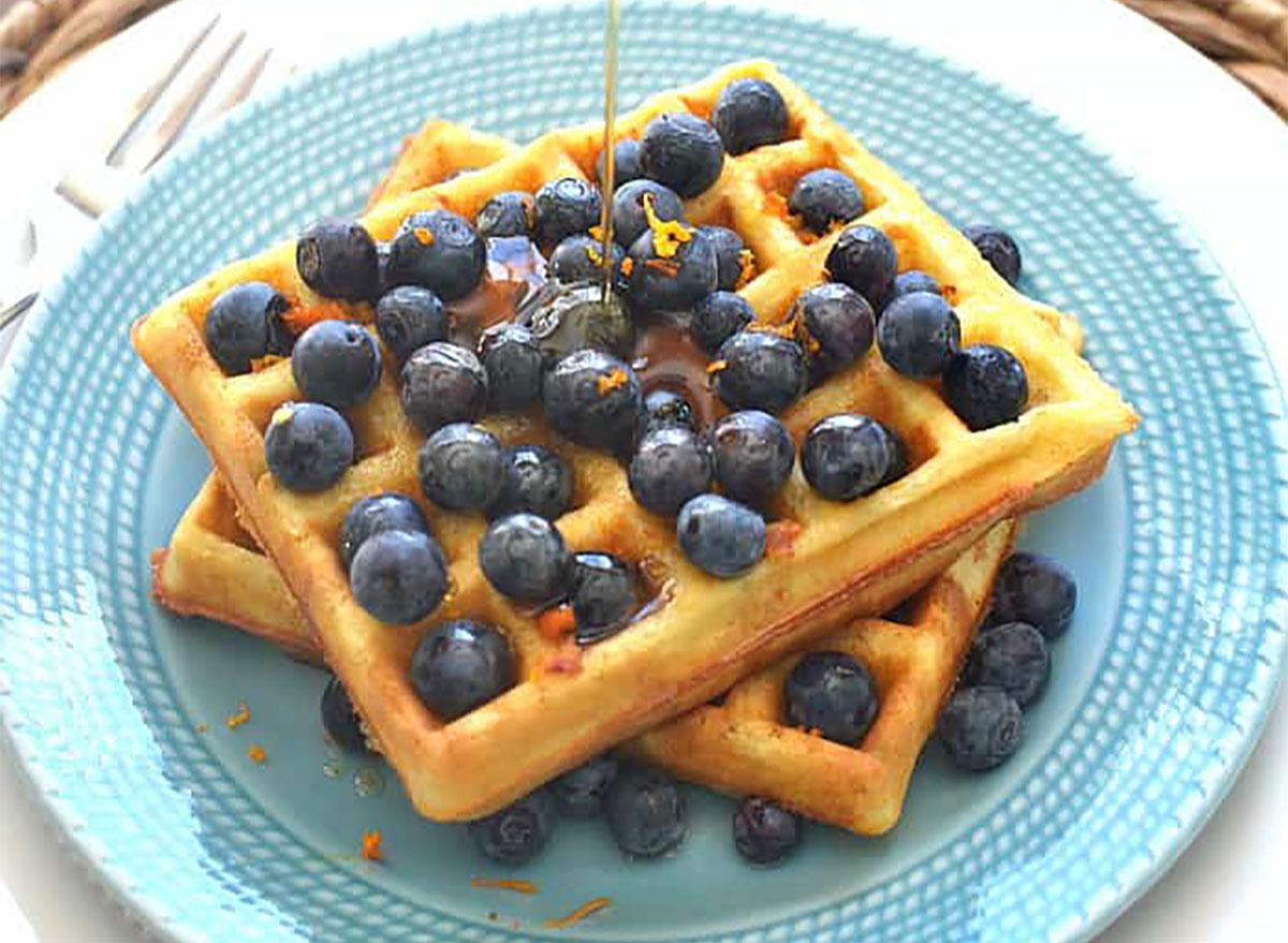 blueberry orange waffles