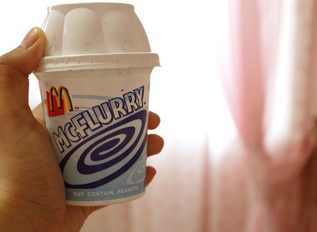 McDonald's oatmeal raisin mcflurry from the secret menu