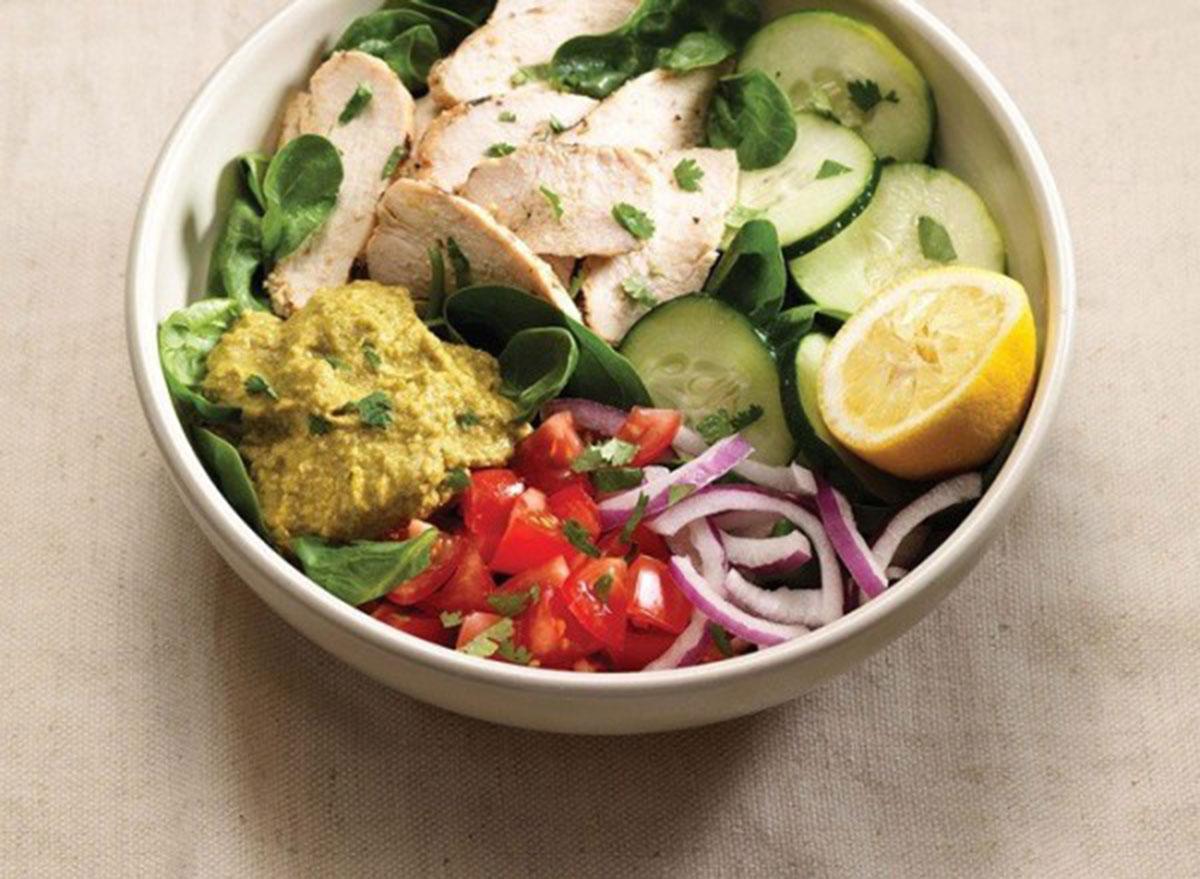 Power chicken hummus bowl from Panera