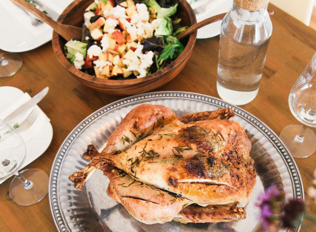 Roast chicken dinner salad