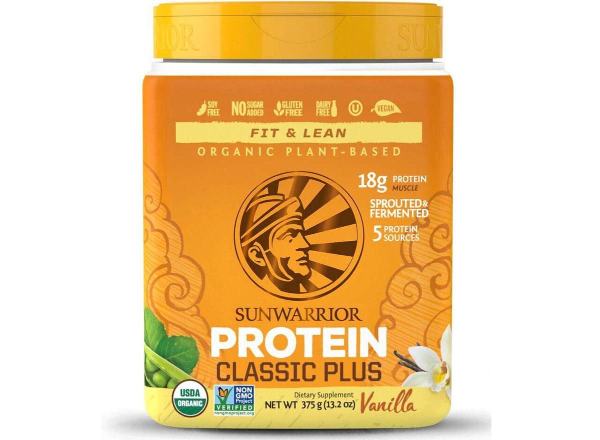 Sunwarrior classic plus protein powder vanilla