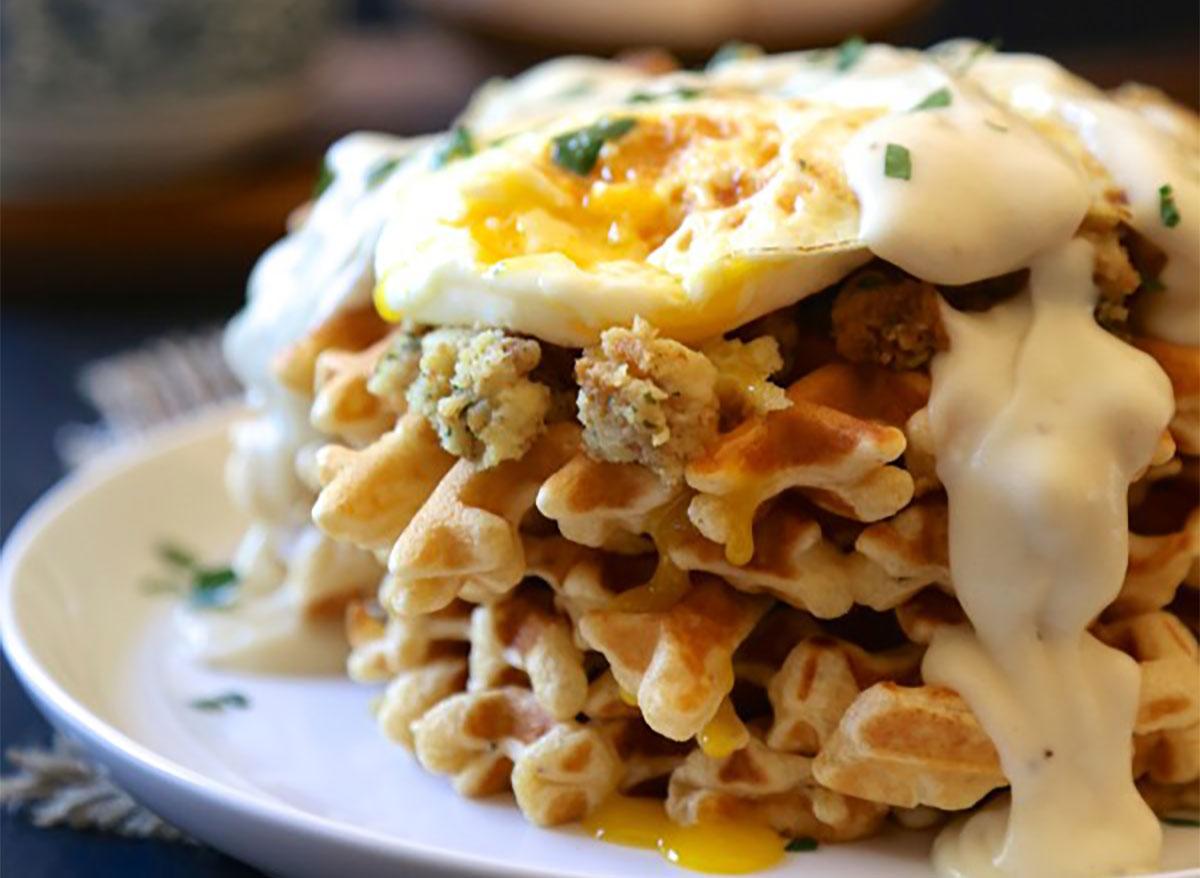 thanksgiving brunch waffles