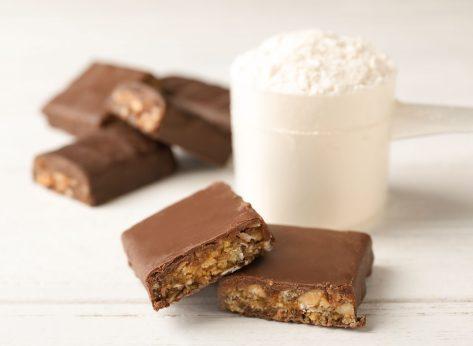 Chocolate protein bar scoop protein powder