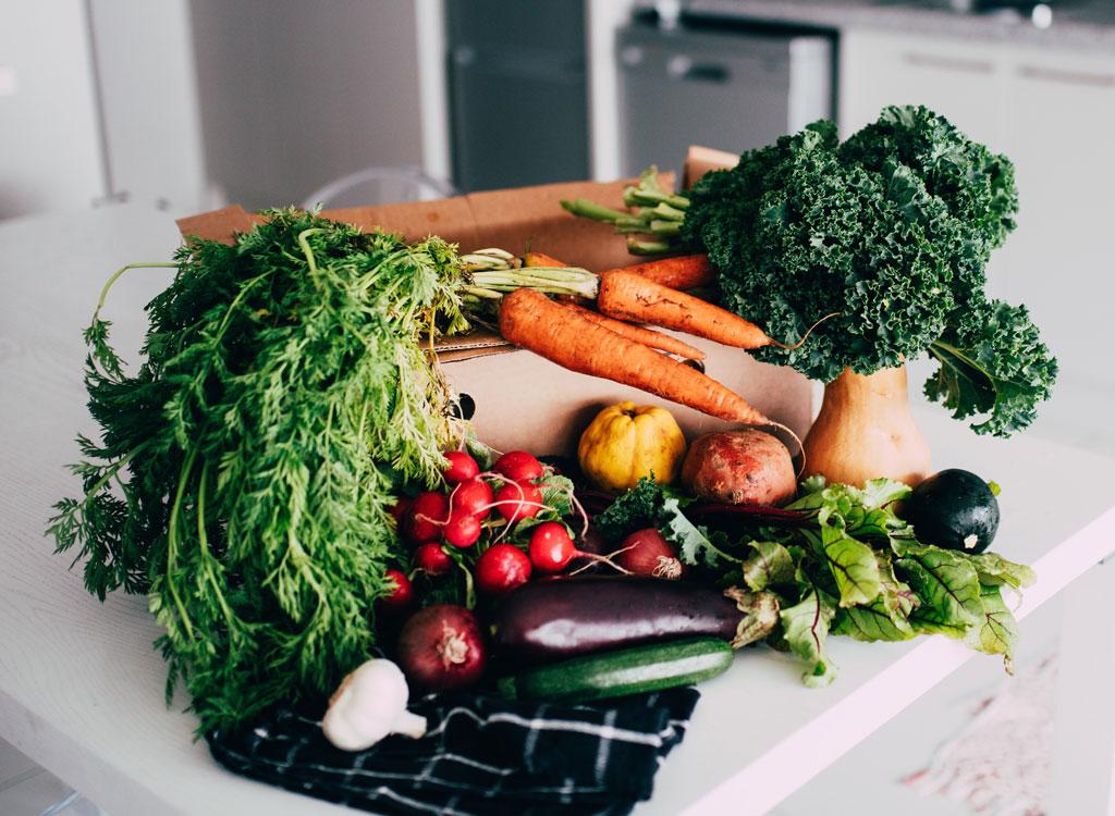 Healthy organic carbs vegetables