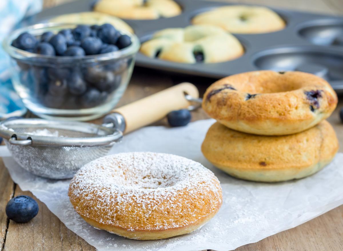 Lemon blueberry protein doughnuts