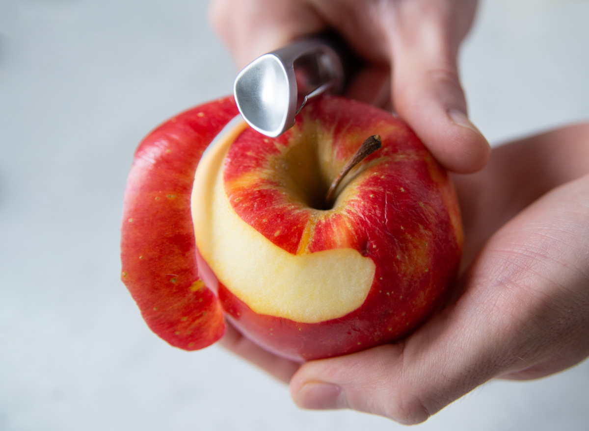 peel apple skin