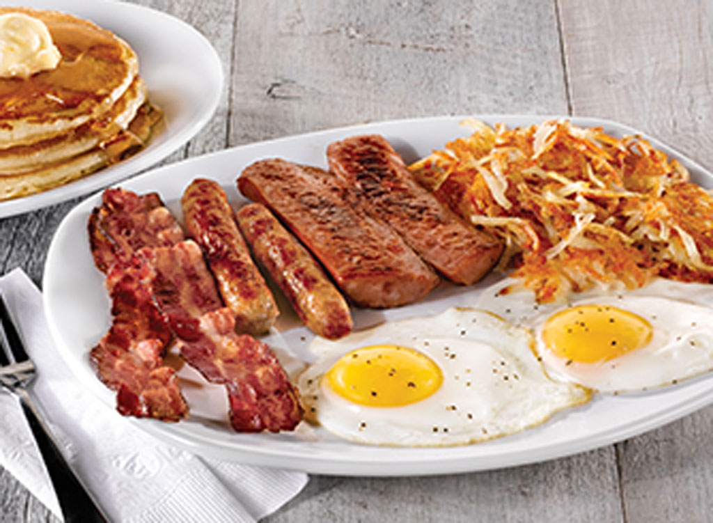 Perkins hearty man combo - worst and unhealthiest restaurant breakfasts in america